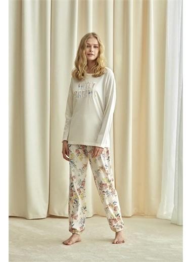 Catherines Catherıne'S 1733 Bayan Uzun Kollu Pijama Takımı  Somon